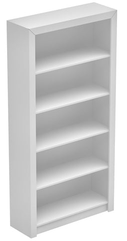 Accentuations by Manhattan Comfort Classic Olinda Bookcase 1.0 with 5-Shelves in White - Peazz Furniture - 1