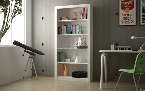 Accentuations by Manhattan Comfort Classic Olinda Bookcase 1.0 with 5-Shelves in White - Peazz Furniture - 3