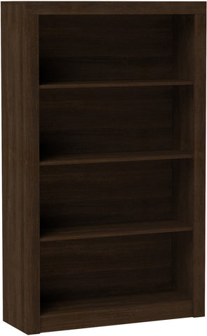Accentuations by Manhattan Comfort Classic Olinda Bookcase 2.0 with 4-Shelves in Tobacco - Peazz Furniture - 1