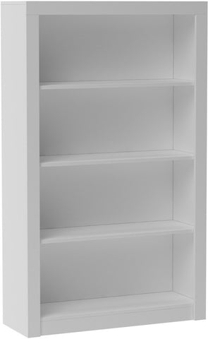 Accentuations by Manhattan Comfort Classic Olinda Bookcase 2.0 with 4-Shelves in White - Peazz Furniture - 1