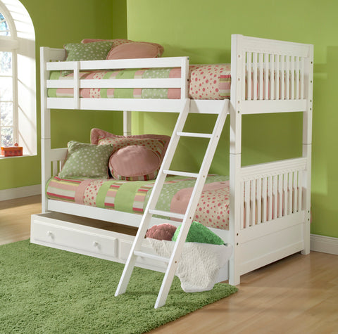 Hillsdale 1528BBT Lauren Bunk Bed - Twin - w/Storage Drawer