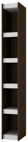 Accentuations by Manhattan Comfort Valuable Parana Bookcase 1.0 with 5-Shelves in White and Tobacco - Peazz Furniture - 1