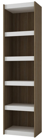 Accentuations by Manhattan Comfort Valuable Parana Bookcase 2.0 with 5-Shelves in White and Oak - Peazz Furniture - 1