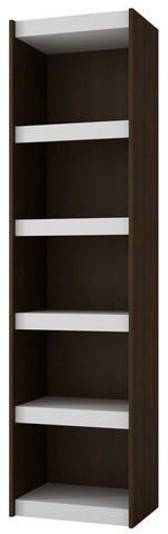 Accentuations by Manhattan Comfort Valuable Parana Bookcase 2.0 with 5-Shelves in White and Tobacco - Peazz Furniture - 1