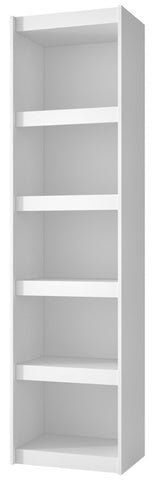 Accentuations by Manhattan Comfort Valuable Parana Bookcase 2.0 with 5-Shelves in White - Peazz Furniture - 1
