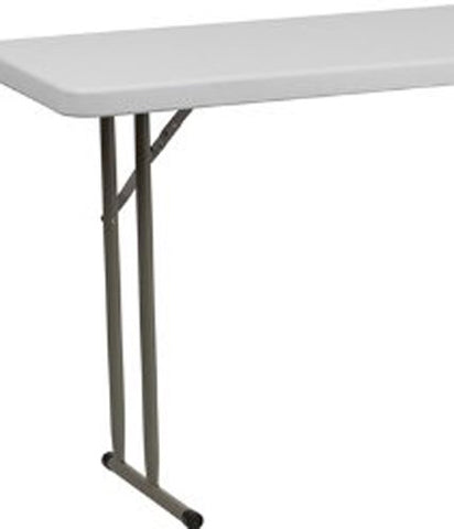 18''W x 72''L Granite White Plastic Folding Training Table RB-1872-GG by Flash Furniture