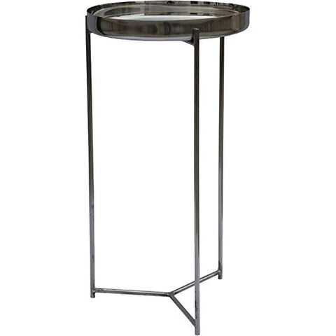 Renwil Modern Glamour Dorsey Accent End Table in Black