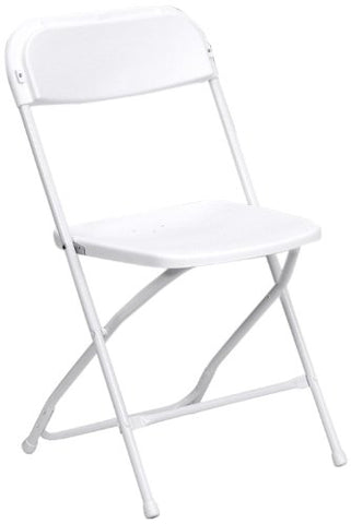 HERCULES Series 800 lb. Capacity Premium White Plastic Folding Chair LE-L-3-WHITE-GG by Flash Furniture - Peazz Furniture
