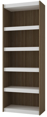 Accentuations by Manhattan Comfort Valuable Parana Bookcase 3.0 with 5-Shelves in White and Oak - Peazz Furniture - 1