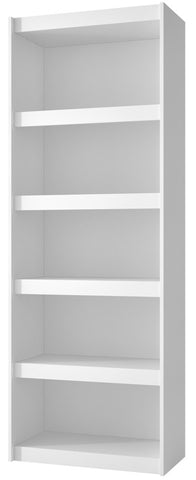 Accentuations by Manhattan Comfort Valuable Parana Bookcase 3.0 with 5-Shelves in White - Peazz Furniture - 1