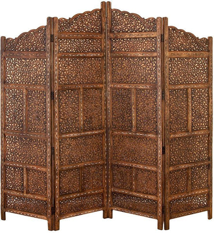 "Bayden Hill Wd 4 Panel Screen 80""W, 72""H - Peazz.com"