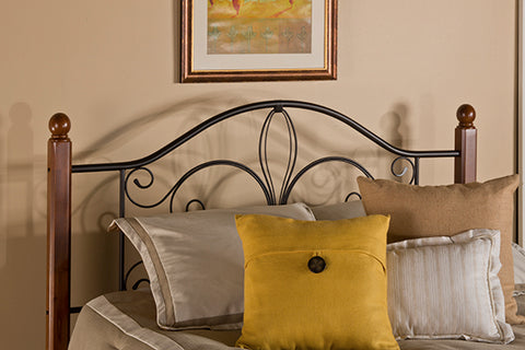 Hillsdale Furniture 1422HFQP Milwaukee Wood Post Headboard - Full/Queen - without Rails