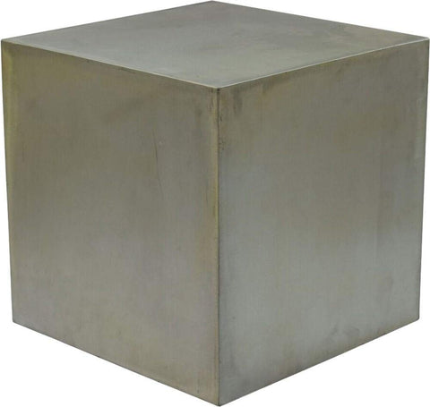 Renwil New Traditional Cordell End Table in Aged Pewter