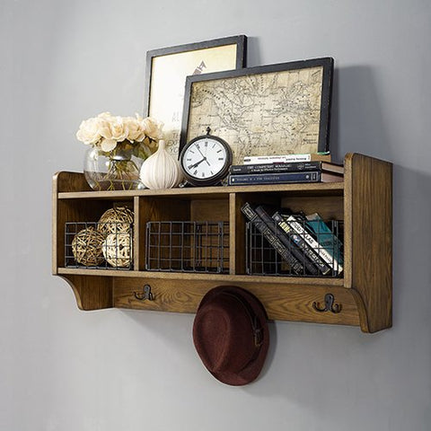 Crosley Furniture Entryway Shelf in Coffee