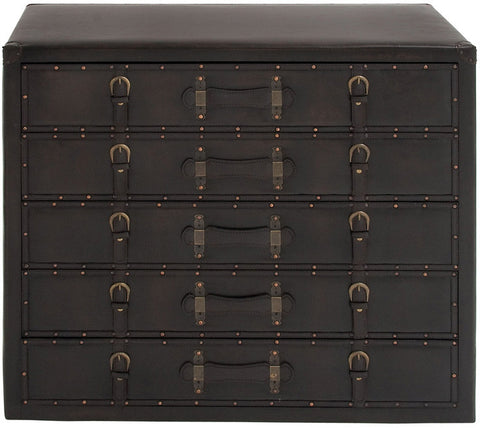 "UMA Inc Wd Lthr Dresser 36""W, 32""H - Peazz Furniture"
