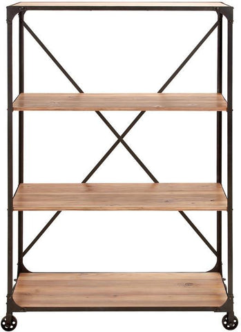 "Bayden Hill Metal Wd Shelf 63""H, 40""W - Peazz.com"