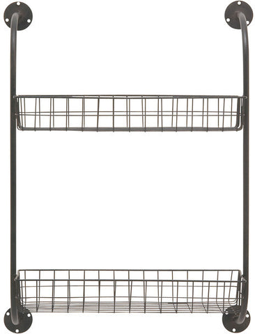 "UMA Inc Mtl Wall Storage Rack 20""W, 27""H - Peazz Furniture"