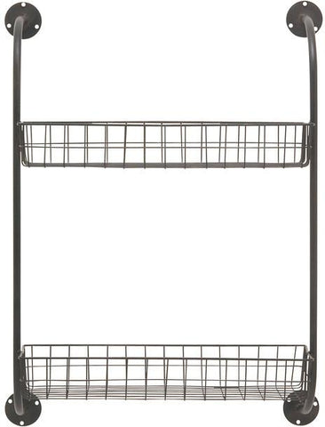 "Bayden Hill Mtl Wall Storage Rack 20""W, 27""H - Peazz.com"