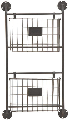"UMA Inc Mtl Wall Storage Rack 16""W, 28""H - Peazz Furniture"