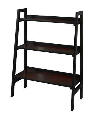 Linon 64021BLKCHY01KDU Camden Three Shelf Bookcase