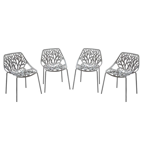 Diamond Sofa Accent Chairs in Gray - Set of 4