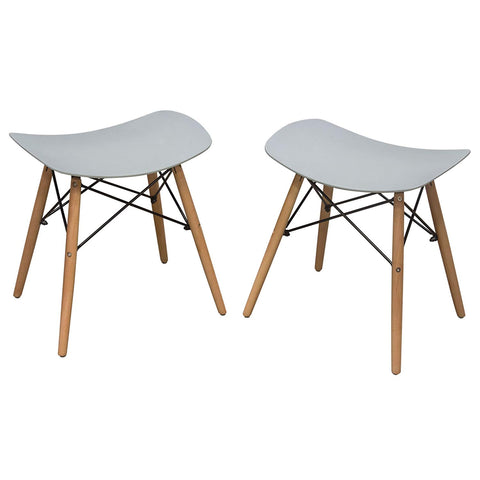Diamond Sofa Accent Stool in Gray - Set of 2
