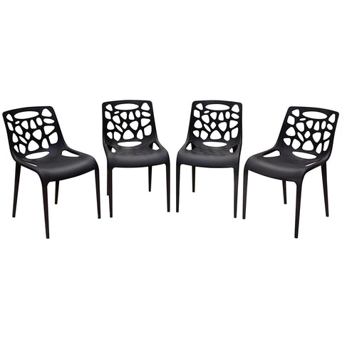 Diamond Sofa 22 in. Accent Chairs in Black - Set of 4