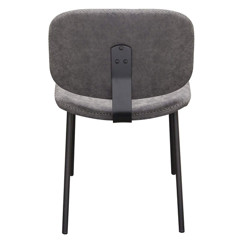 Diamond Sofa Dining Chair in Steel Gray - Set of 2