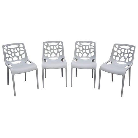 Diamond Sofa 22 in. Accent Chairs in Gray - Set of 4