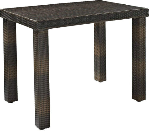 Crosley Furniture Palm Harbor Outdoor Wicker High Dining Table - Brown