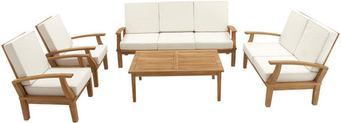 "UMA Inc +Teak Sofa S/5 77"", 54"", 30""W (A+B) - Peazz Furniture"