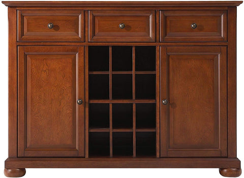 Crosley Furniture Alexandria Wine Buffet/Sideboard - Classic Cherry