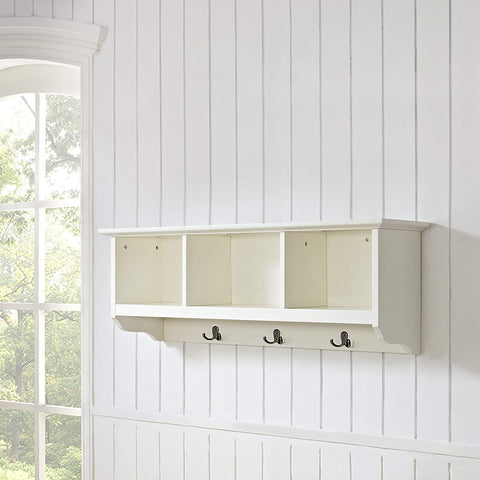 Crosley Furniture Brennan Entryway Hanging Storage Shelf - White