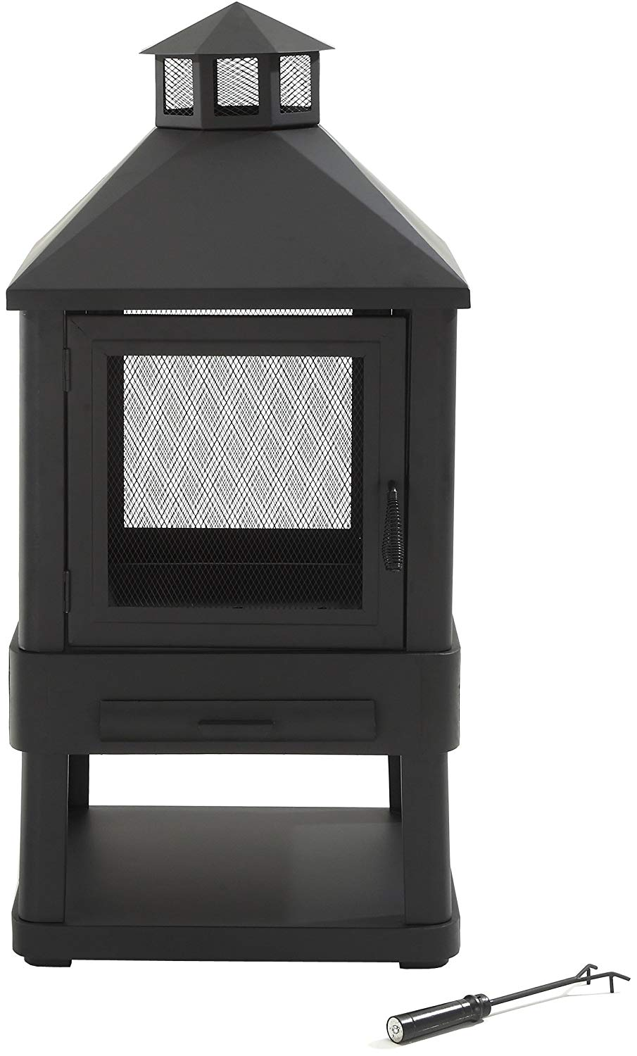 Crosley Furniture Monticello Enclosed Outdoor Fire Pit - ...