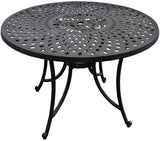 Crosley Furniture Sedona 42-inch Solid-Cast Aluminum Outdoor Dining Table - Black