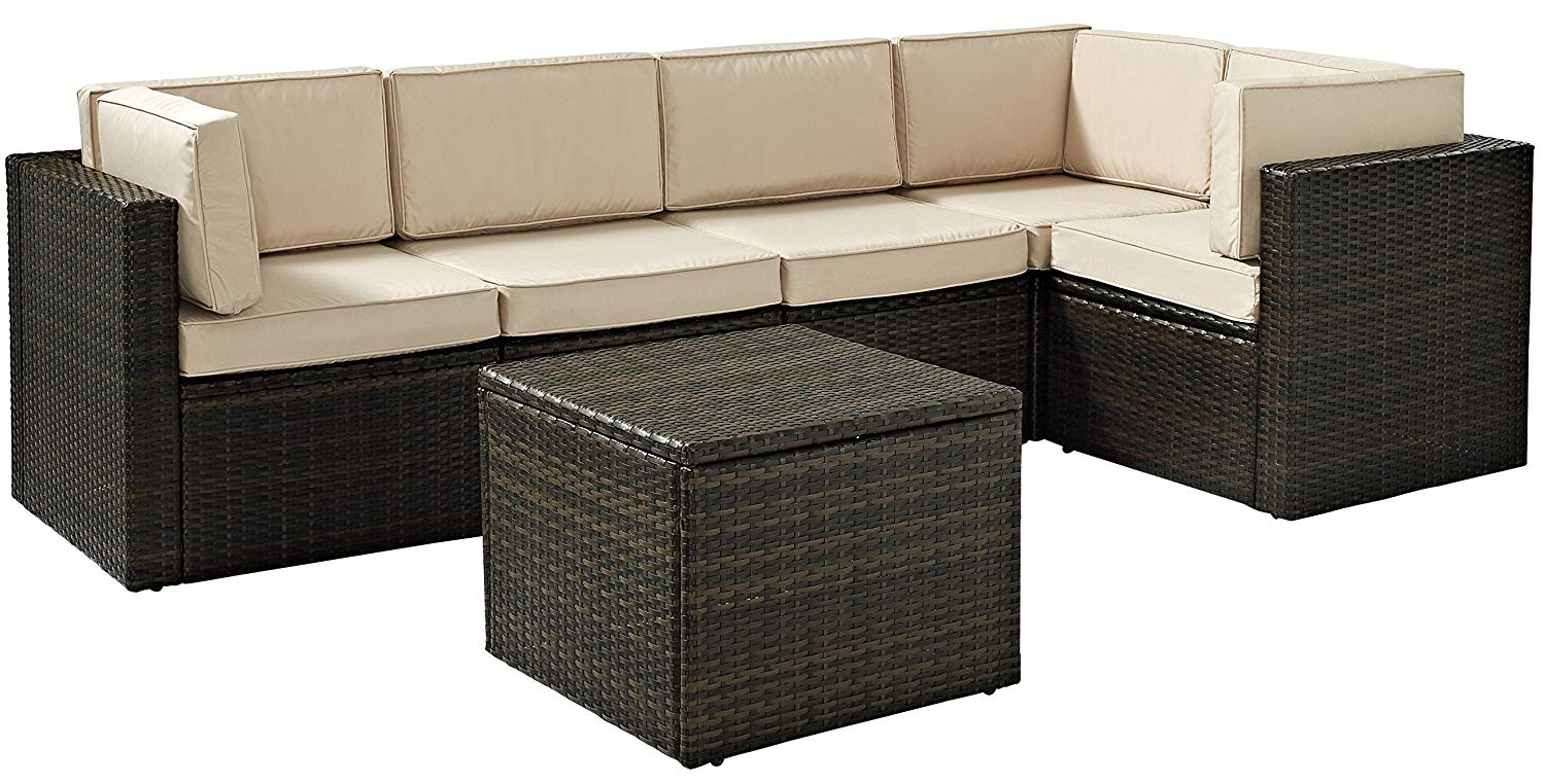 Crosley Furniture Palm Harbor 6-piece Outdoor Wicker Sect...