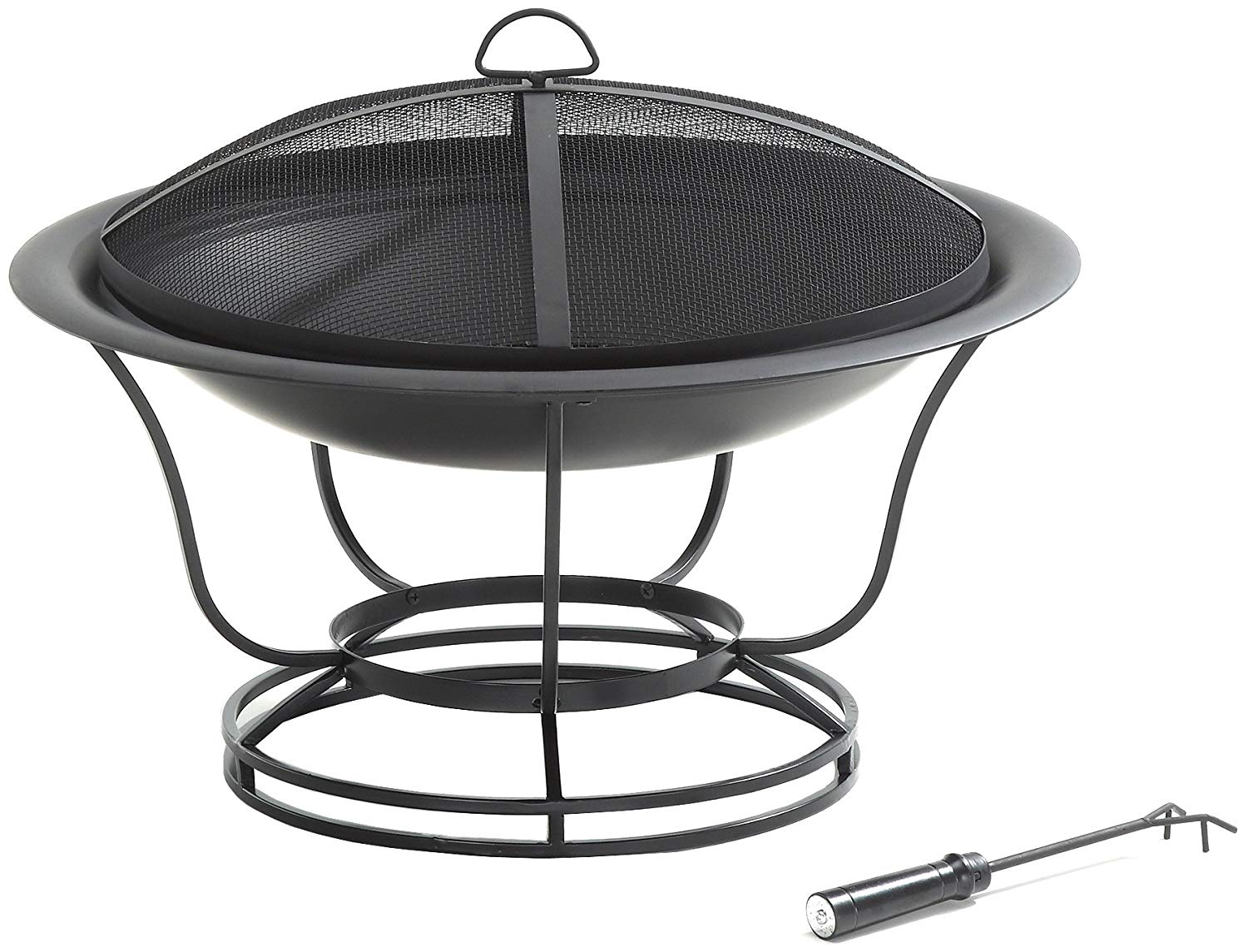 Crosley Furniture Buckner Outdoor Fire Pit With Steel Mes...
