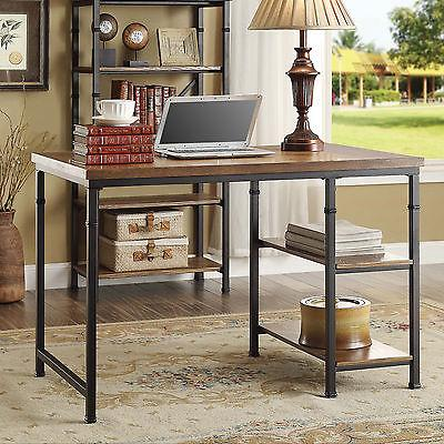 Linon 862252ASH01U Austin Two Shelf Desk