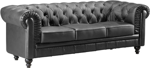 Zuo Modern 900110 Aristocrat Sofa Color Black Wood Finish - Peazz Furniture - 1