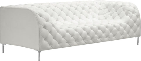 Zuo Modern 900275 Providence Sofa Color White Chromed Steel Finish - Peazz Furniture - 1