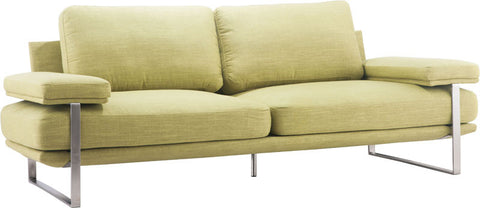 Zuo Modern 900624 Jonkoping Sofa Color Lime Brushed Stainless Steel Finish - Peazz Furniture - 1