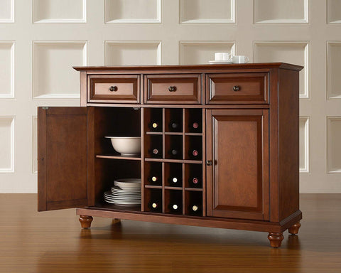 Crosley Furniture Cambridge Wine Buffet/Sideboard - Classic Cherry