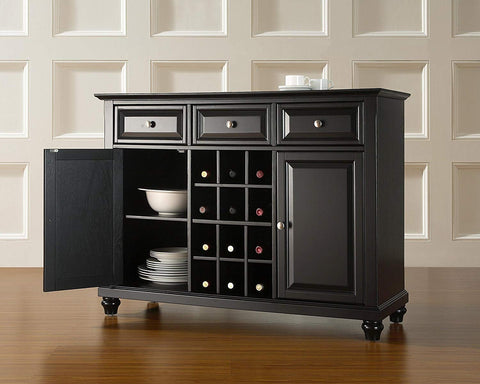 Crosley Furniture Cambridge Wine Buffet/Sideboard - Black