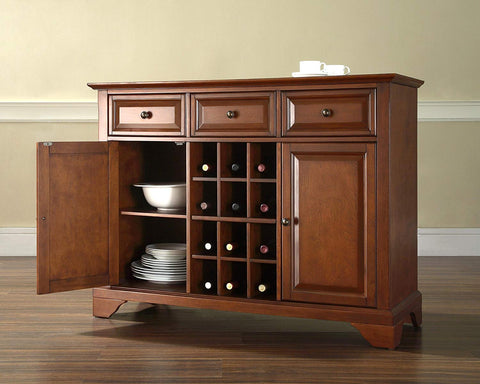 Crosley Furniture LaFayette Wine Buffet / Sideboard - Classic Cherry