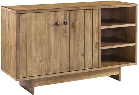 Crosley Furniture Roots Sideboard Living Room Storage - Natural