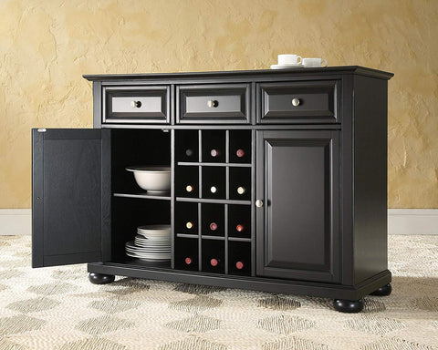 Crosley Furniture Alexandria Wine Buffet / Sideboard - Black