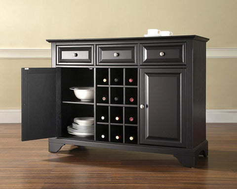 Crosley Furniture LaFayette Wine Buffet/Sideboard - Black