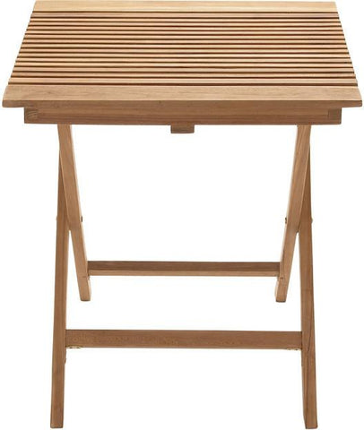 "Bayden Hill Wd Teak Folding Table 28""W, 30""H - Peazz.com"