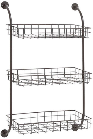 "UMA Inc Mtl Wall Storage Rack 20""W, 33""H - Peazz Furniture"