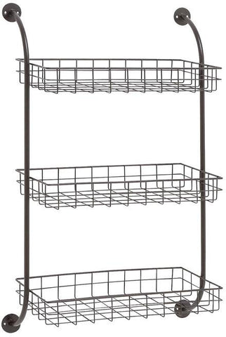 "Bayden Hill Mtl Wall Storage Rack 20""W, 33""H - Peazz.com"